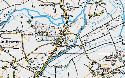 Old map of Westport Canal in 1919
