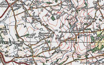 Old map of Bache in 1920