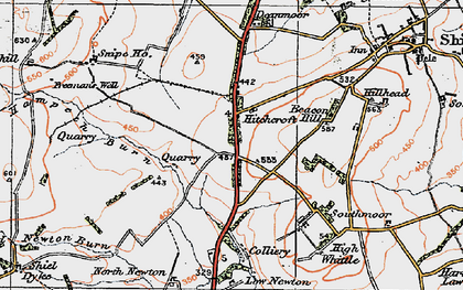 Old map of Whittle Colliery in 1925