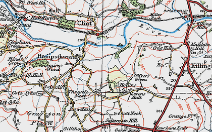 Old map of Hampsthwaite in 1925