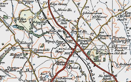 Old map of Ashtons-cross in 1921