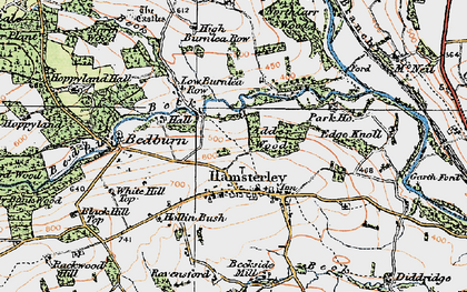 Old map of Linburn Beck in 1925