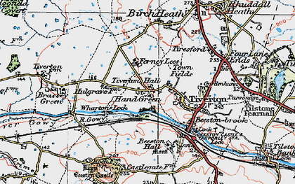 Old map of Wharton's Lock in 1923