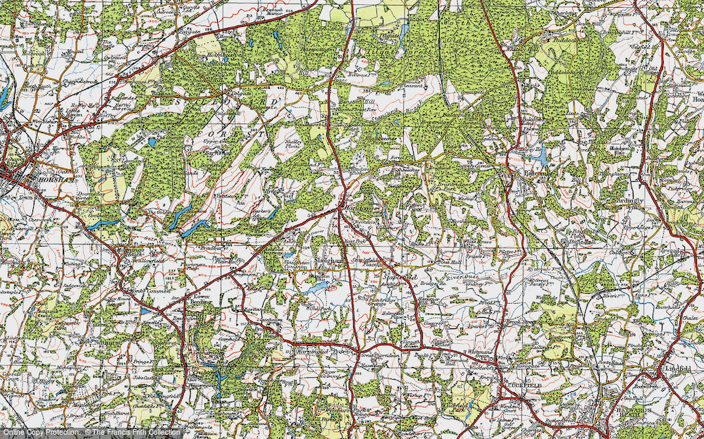 Old Map of Handcross, 1920 in 1920