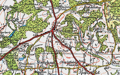 Old map of Handcross in 1920