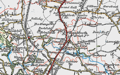 Old map of Handforth in 1923