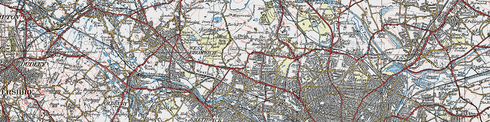 Old map of Handsworth in 1921