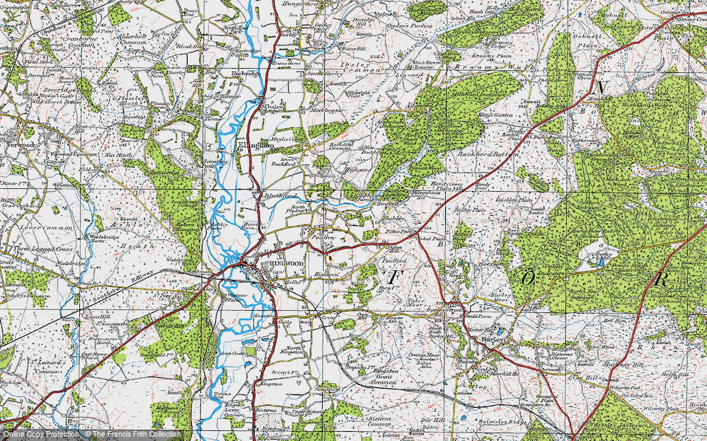 Old Map of Hangersley, 1919 in 1919