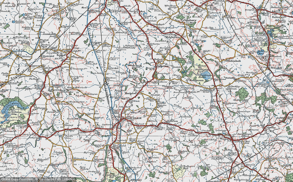 Old Map of Historic Map covering Woolfall in 1921