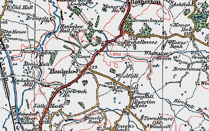 Old map of Woolfall in 1921