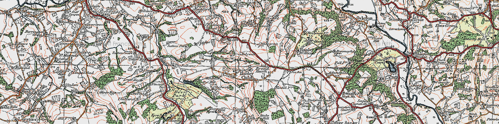 Old map of Woodbank Hill in 1920