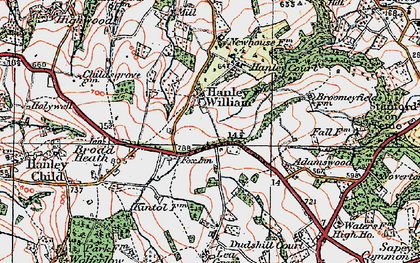 Old map of Lea Green in 1920