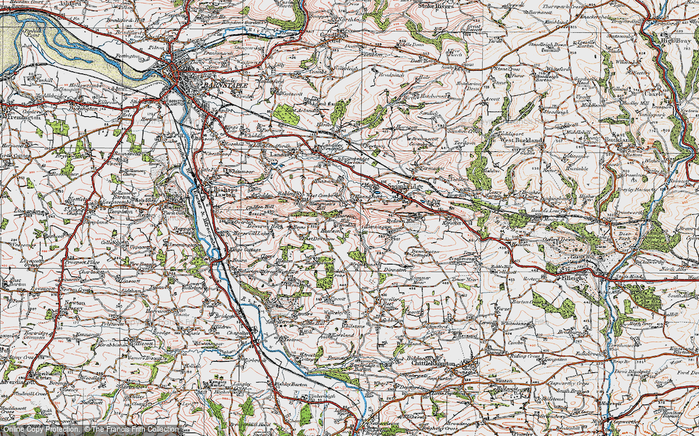 Old Map of Historic Map covering Bableigh in 1919