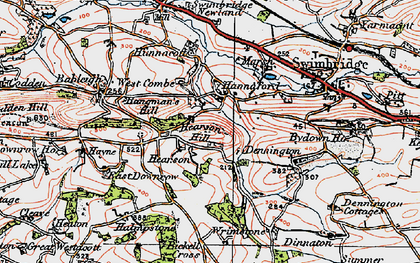 Old map of Wrimstone in 1919