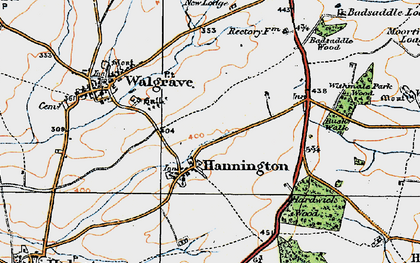 Old map of Badsaddle Wood in 1919