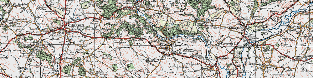 Old map of Alton Common in 1921