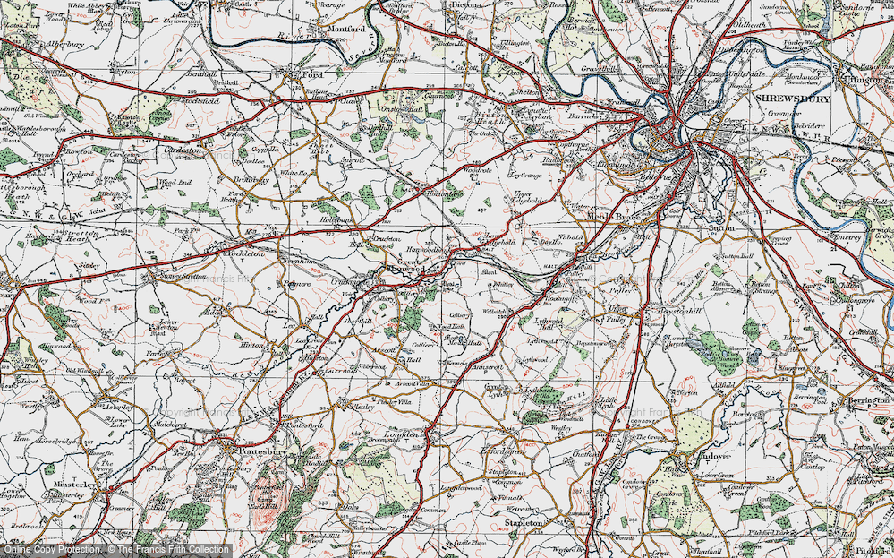 Old Map of Hanwood, 1921 in 1921