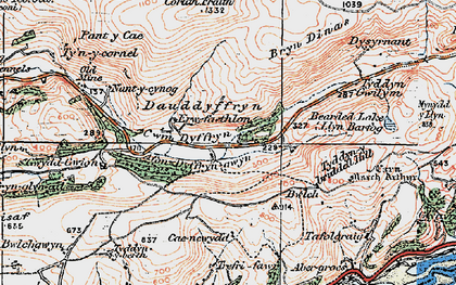 Old map of Allt Gwyddgwion in 1922