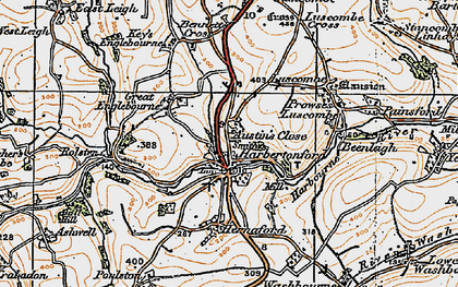 Old map of Woodcourt in 1919