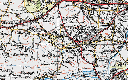 Old map of Harborne in 1921