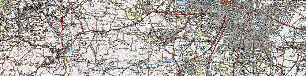 Old map of Harborne in 1921