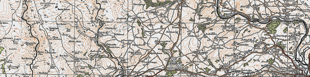 Old map of White-oxen Manor in 1919