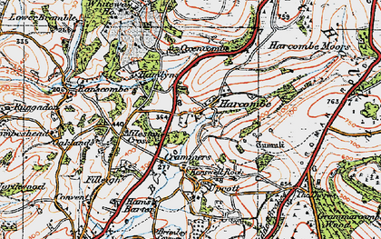 Old map of Whiteway Ho in 1919