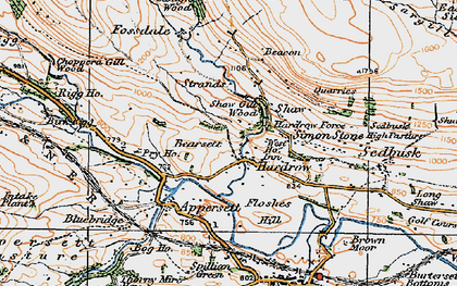 Old map of Hardraw in 1925