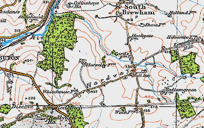 Old map of Leland Trail in 1919