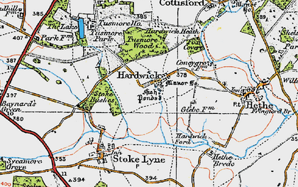 Old map of Lime Kiln Hovel in 1919