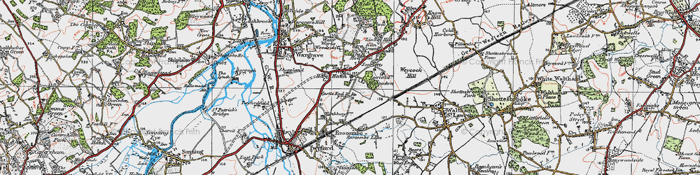 Old map of Hare Hatch in 1919