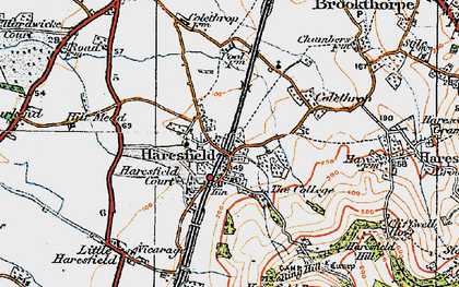 Old map of Haresfield in 1919