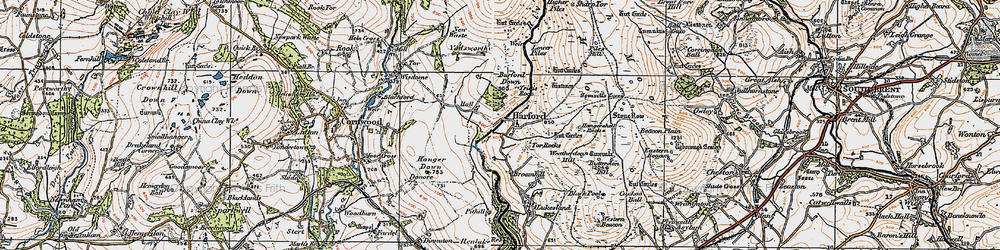 Old map of Harford in 1919