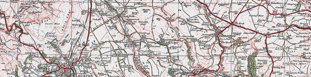 Old map of Wind Low in 1923
