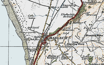Old map of Harlech in 1922