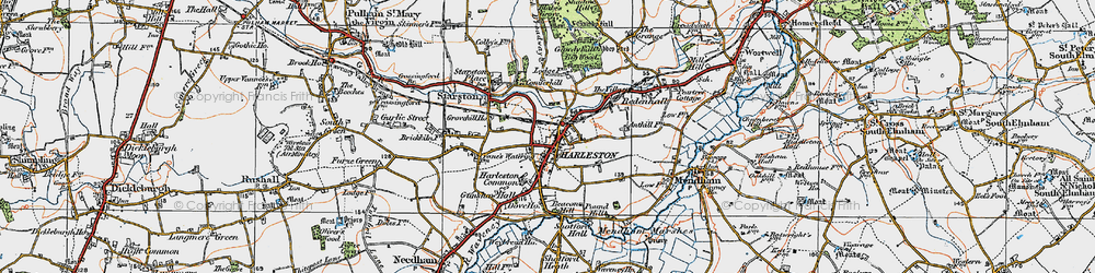 Old map of Anthills in 1921