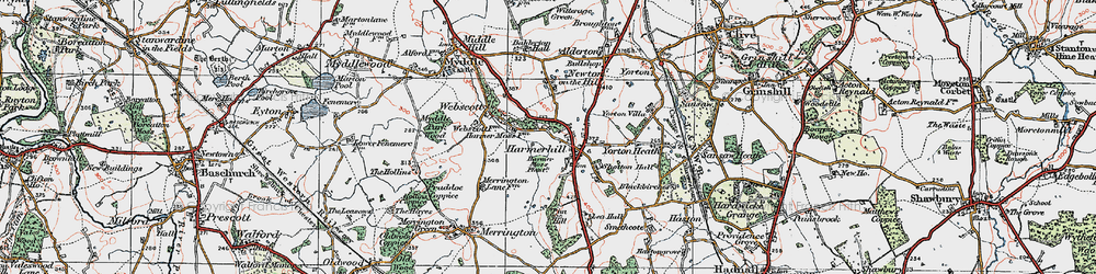 Old map of Lea Hall in 1921