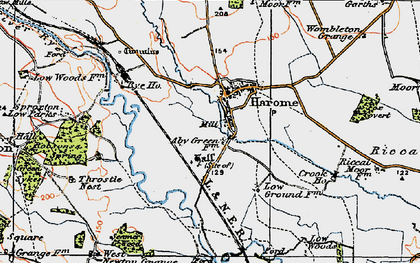 Old map of West Newton Grange in 1925