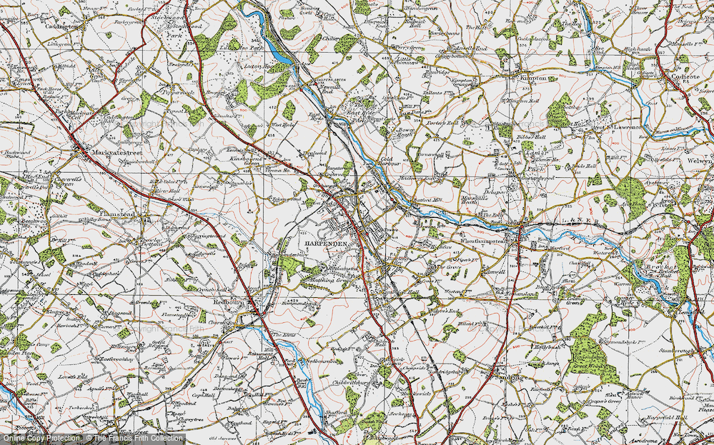 Old Map of Harpenden, 1920 in 1920