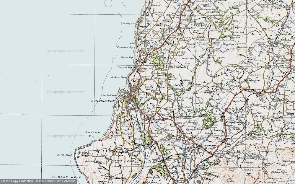 Old Map of Harras, 1925 in 1925