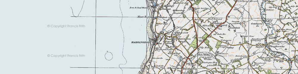 Old map of Harrington in 1925