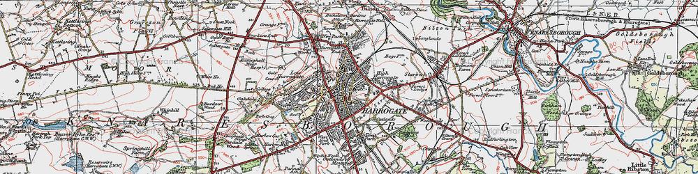 Old map of Harrogate in 1925