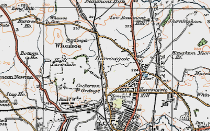 Old map of Whessoe Cott in 1925