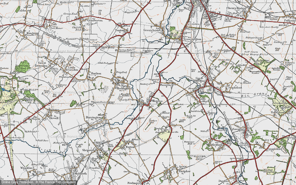 Old Map of Harston, 1920 in 1920