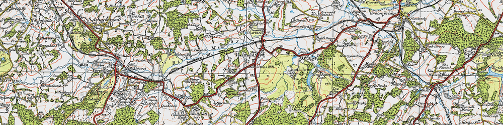 Old map of Hartfield in 1920