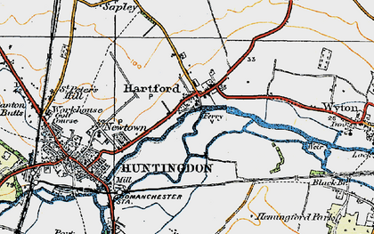 Old map of Hartford in 1919