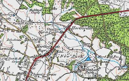 Old map of Elvetham Hall in 1919