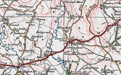 Old map of Hartington in 1923