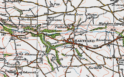 Old map of Hartland in 1919