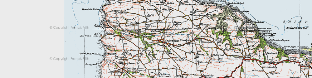 Old map of Abbey River in 1919